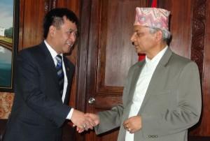 Ambassdor of Myanmar to Nepal,U Aye Kahing