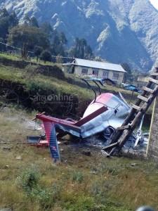helicopter crash at lukla 1