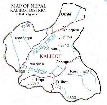 kalikot_district_map