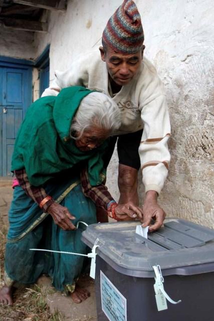 Vote in Gorkha