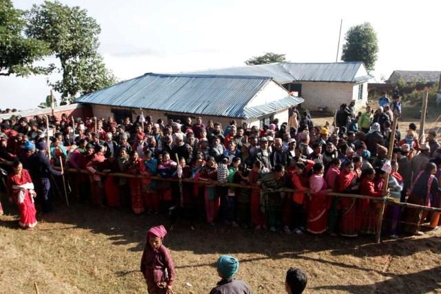 Voting in Gorkha 2