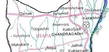 jhapa_district_map