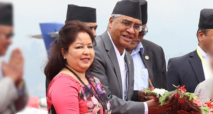 arju deuba Pm deuba and his spouse arju deuba rana had arrived in the district four days ago pm's spouse also cast her vote from the same polling center.